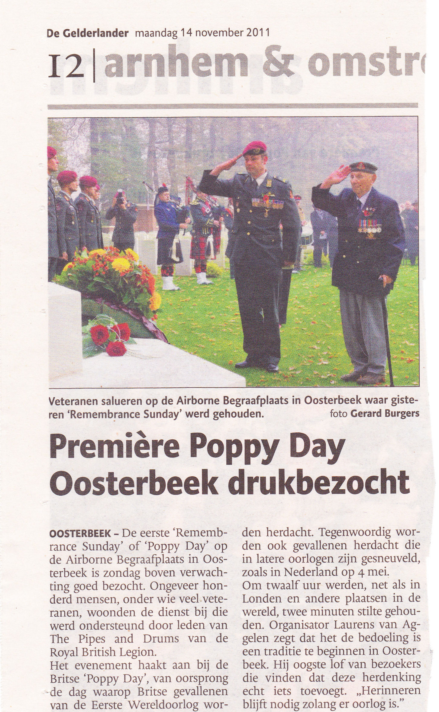 Remembrance, Oosterbeek 13-11-2011